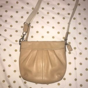COACH - Light Brown Leather Crossbody Bag